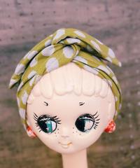 ワイヤーターバン*cotton kiiroの水玉