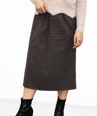 チェック柄マキシスカート:2色展開
