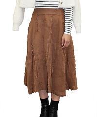 ランダムフリンジニットスカート:3色展開