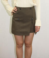 ラップ風ミニスカート:2色展開