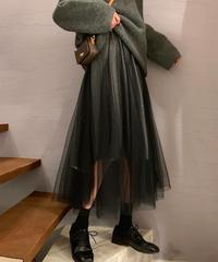 ラメ×チュールスカート:4色展開