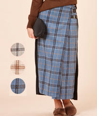 バックプリーツラップスカート:3色展開