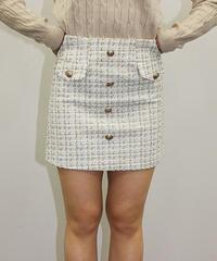 ラメツイードスカート:3色展開