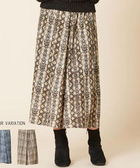 パイソン柄ロングスカート:2色展開