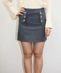 ボタンタイトミニスカート:2色展開