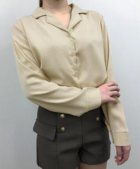 オープンカラーシャツブラウス:3色展開
