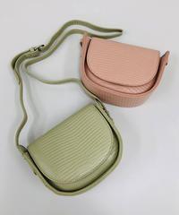 リザード型押しショルダーバッグ:2色展開
