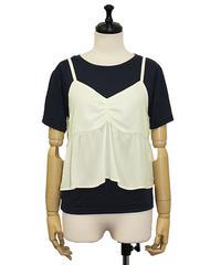 ビスチェキャミセットTシャツ:ネイビー