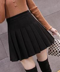 ハイウエストプリーツスカート:3色展開