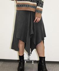 アシンメトリーニットスカート:3色展開