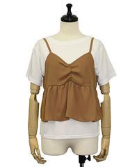 ビスチェキャミセットTシャツ:ホワイト