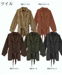 ツイルウエストベルトシャツジャケット:5色展開