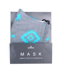 抗菌防臭マスク  ネイティブ  / ブルー(オーガニックコットン )