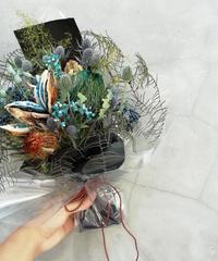 Dry flower bouquet: Blue