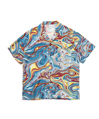 HUF WOMEN'S MARBLED S/S WOVEN TOP