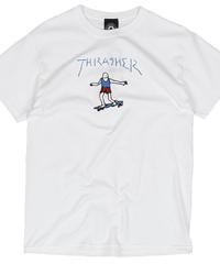 THRASHER GONZ LOGO - WHITE