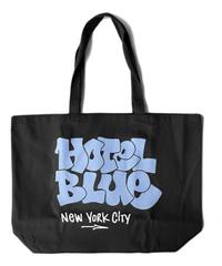 HOTEL BLUE TOTE BAG  /  BLACK