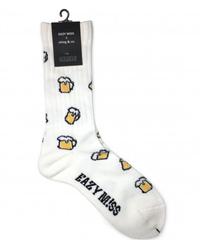 EAZY MISS Beer socks  / White