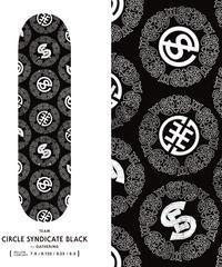 EVISEN SKATEBOARDS CIRCLE SYNDICATE BLACK DECK