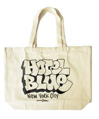 HOTEL BLUE TOTE BAG  /  CREAM