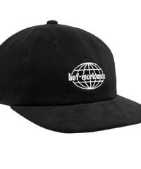 GLOBAL CORDUROY 6 PANEL HAT BLACK