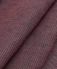 こんな綿麻見たことない!珍しい織り柄が入っている綿麻着物 ※手縫いマイサイズ仕立て