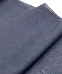 紺色1色の潔さも魅力の一つ!珍しい織り柄が入っている綿麻着物 ※手縫いマイサイズ仕立て