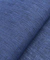 ベーシックだけれどニクい小技が聞いている紺色の綿麻着物 ※手縫いマイサイズ仕立て