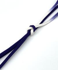 ゆるぎ組暈し手組帯締め 今紫×純白 [紅衣オリジナル]