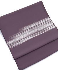 染め九寸名古屋帯 しけ引きと刺繍の融合 滅紫色 [紅衣オリジナル]