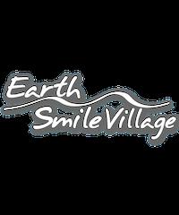 Earth-Smile Village ステッカー 抜き文字 WH