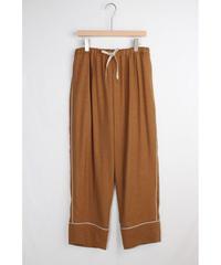 pt-25C   canyon brown silk linen pants