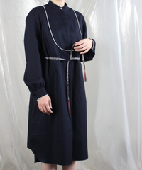 op-24N  navy shirts dress