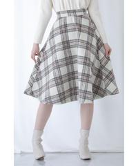 【予約販売】チェックフレアスカート
