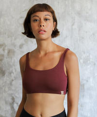 Boxy Crop Dark Cherry
