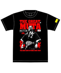 ハードコアチョコレート×ザ・グレート・ムタ「忍者頭⼱(IGA・ブラック)」Tシャツ ※KEIJI MUTO OFFICIAL SHOP 限定版