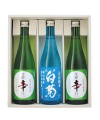 【夏ギフト】夏の純米酒セット(720ml×3本入り)