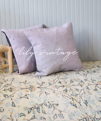 Lily vintage | cushion cover -purple-
