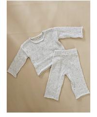 Tiny Trove |  Peppa Sprinkle Knit set up Pearl