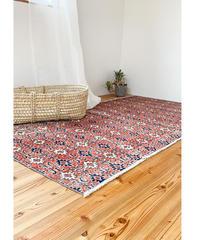 Lily vintage | rug Red flower 210 × 111cm