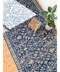 vintage rug | rug navy blue 256 × 114 cm