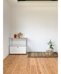 vintage rug | rug black beige 137 × 74cm