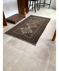 vintage rug   rug dark brown 134.5×77cm