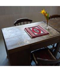 Afghanistan vintage | mini rug white red 32 × 32.5cm