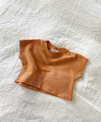 BY BILLIE | FRENCH TERRY TOP - RUST