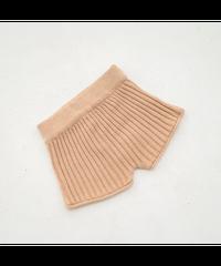 illoura the label | knit shorts -Caramel-