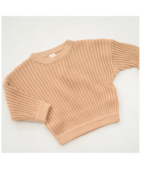 illoura the label | Essential knit pull over | Caramel