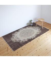 Lily vintage | rug dark brown 203 × 114cm