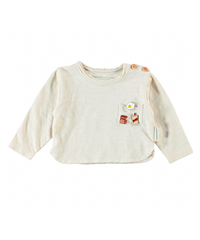 piupiuchick | BABY LONG SLEEVE ECRU W/ PINS ON FRONT AND 〝THE BREAKFAST CLUB〟PRINT ON BACK