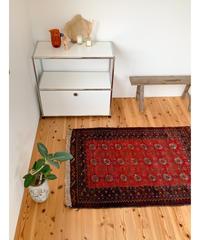 vintage rug | rug baluch dark red 127 × 90cm